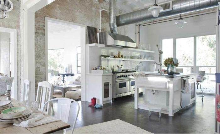 shabby-chic-küche-viele-weiße-möbelstücke