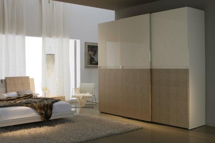 Stylische gestaltung vom schlafzimmer moderne garderobe