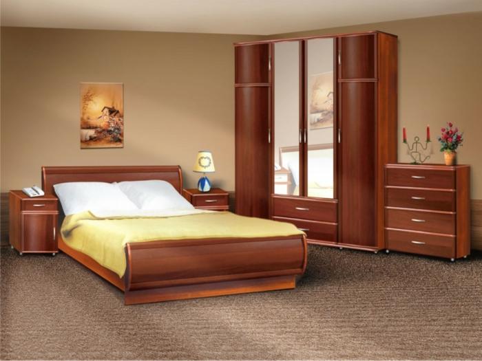 Schlafzimmer gestaltung stylische garderobe mit spiegeln