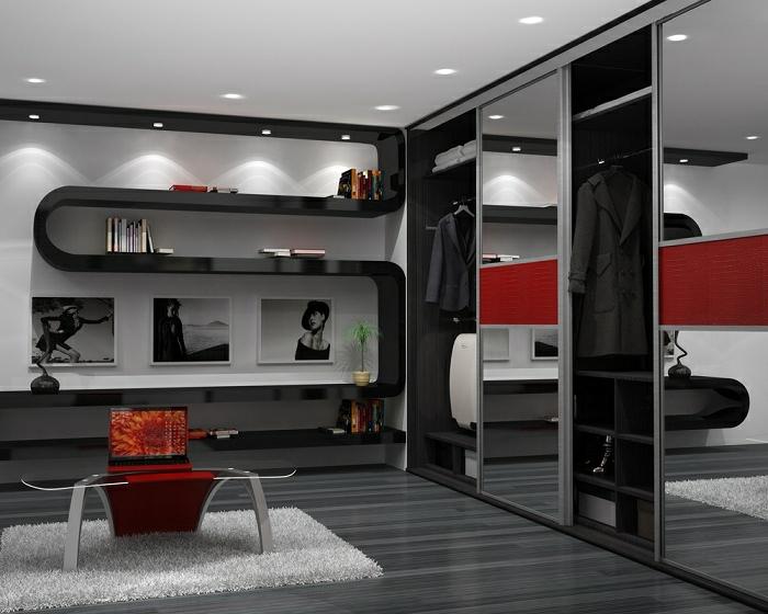 Stylische garderobe mit einem ultramodernen design