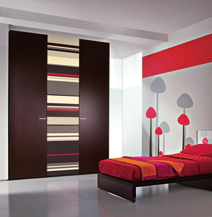Hölzerne gestaltung von garderobe stylische idee fürs schlafzimmer