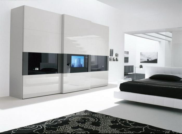 Stylische garderobe schlafzimmer modell