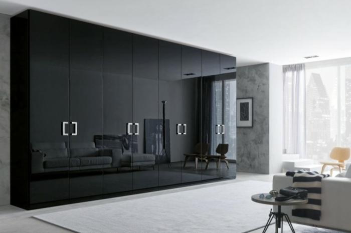 stylische-garderobe-schwarze-schicke-gestaltung