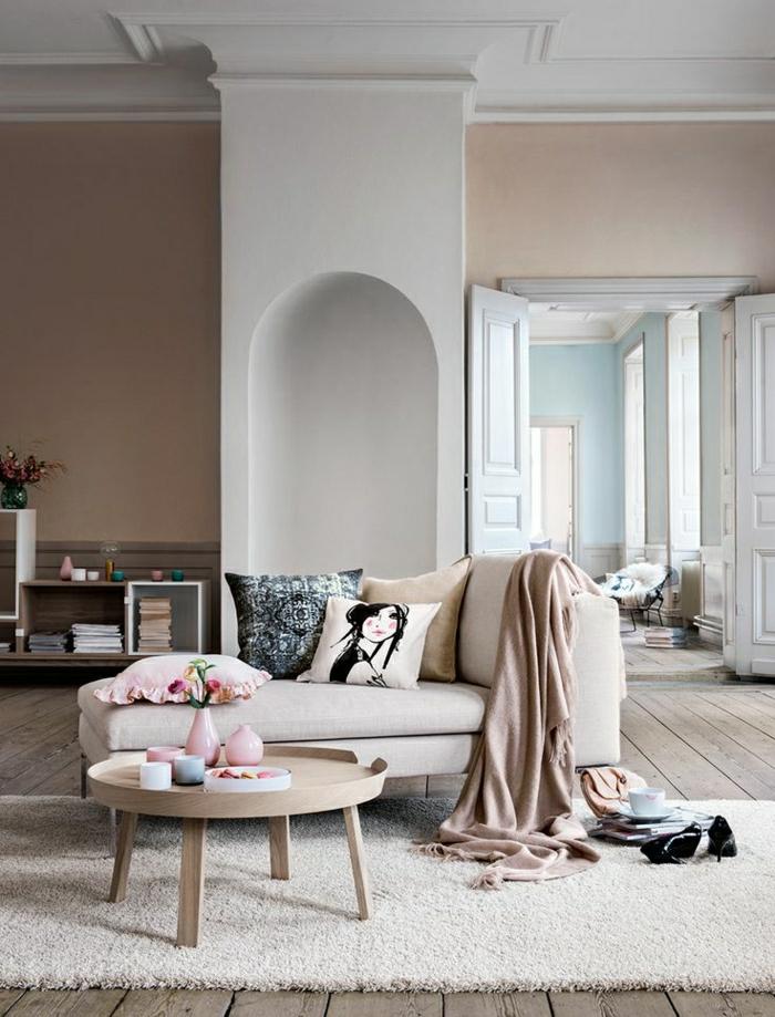 Teppich Beige Wohnzimmer Gestalten Wohnideen Einrichten