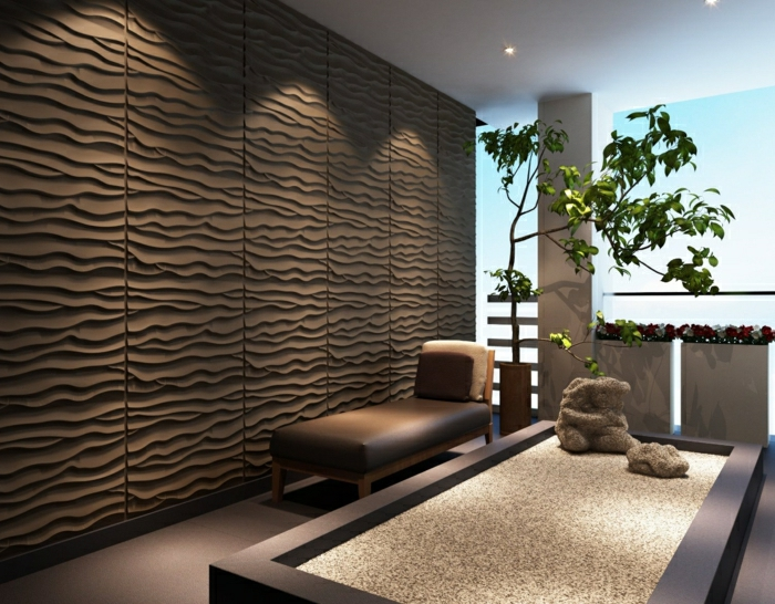 Moderne wandpaneele 80 fotos zum erstaunen - 3d wandpaneele betonoptik ...
