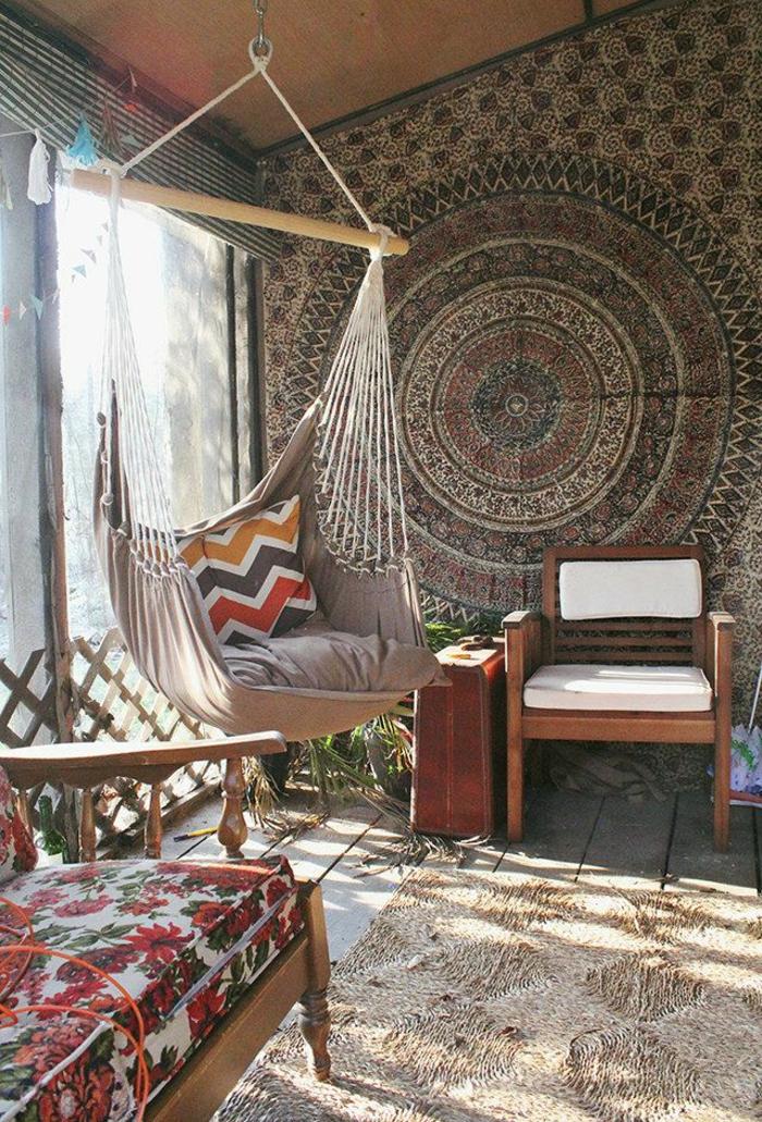 veranda-schaukel-exotische-gestaltung-attraktive-wand