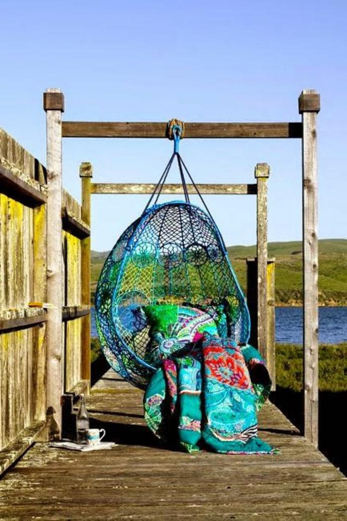 veranda-schaukel-lustiges-modell-in-türkis-farbe