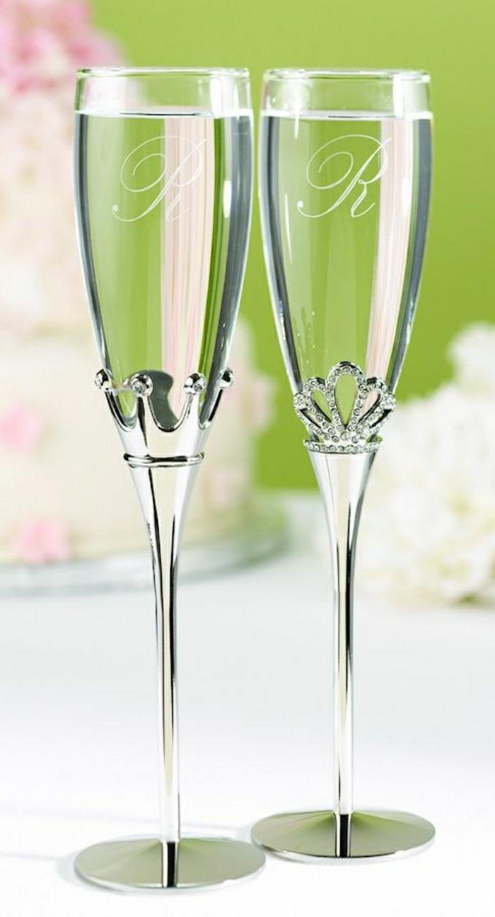vernickelte-Hochzeitsgläser