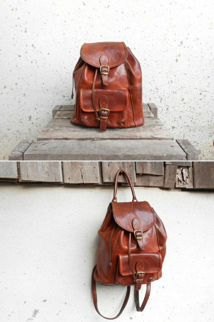 vintage-Leder-Rucksack-Damen