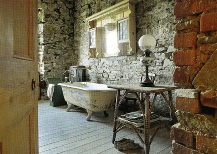 Außergewöhnlich 1. Vintage Bad Wand Aus Steinen