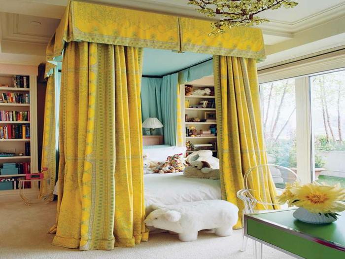 vorhänge-für-jugendzimmer-gelbe-schöne-farbe