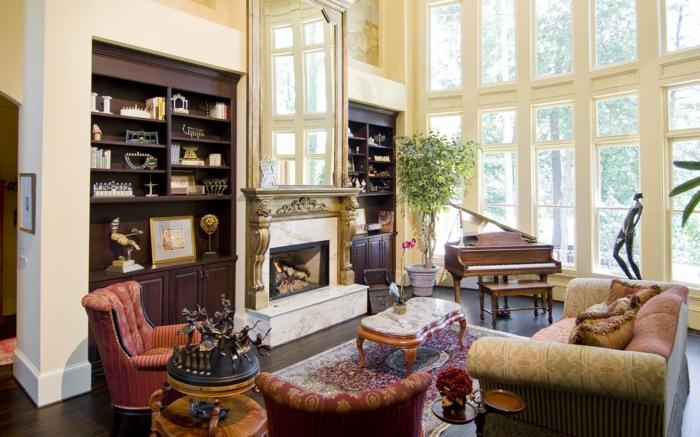 wandgestaltung-im-landhausstil-gläserne-wände-sehr-aristokratisch