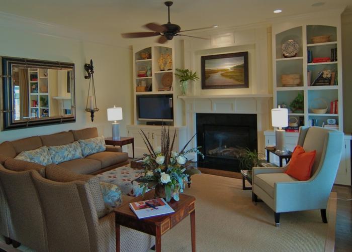 ofen wohnzimmer abstand:wandgestaltung wohnzimmer landhausstil : originelles wohnzimmer im