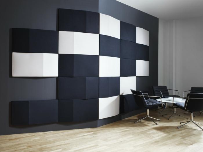wohnzimmer wohnzimmer wandgestaltung schwarz wei modernes, Hause deko