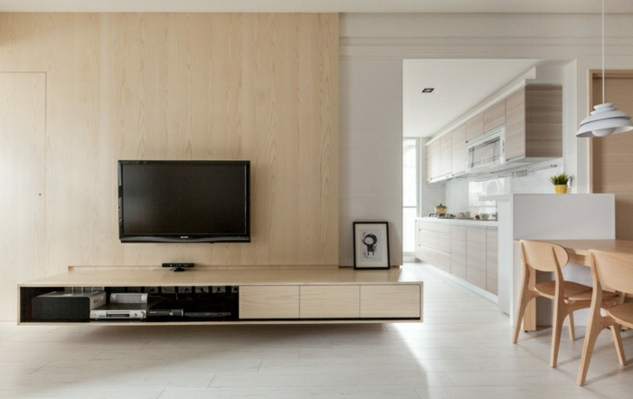 tv wandpaneel 35 ultra moderne vorschl ge. Black Bedroom Furniture Sets. Home Design Ideas