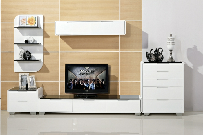 wandpaneele tv wand wand holz verkleidung tv wand. Black Bedroom Furniture Sets. Home Design Ideas