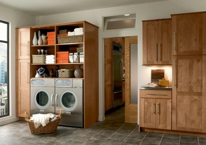 waschküche-einrichten-hölzerne-gestaltung