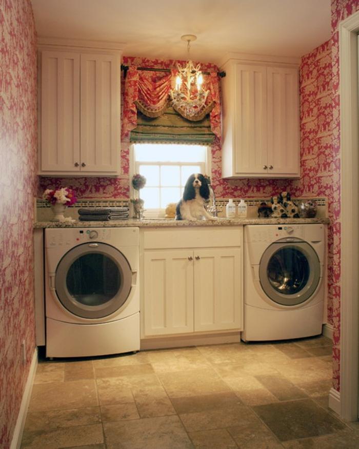 waschküche-einrichten-kreative-tapete