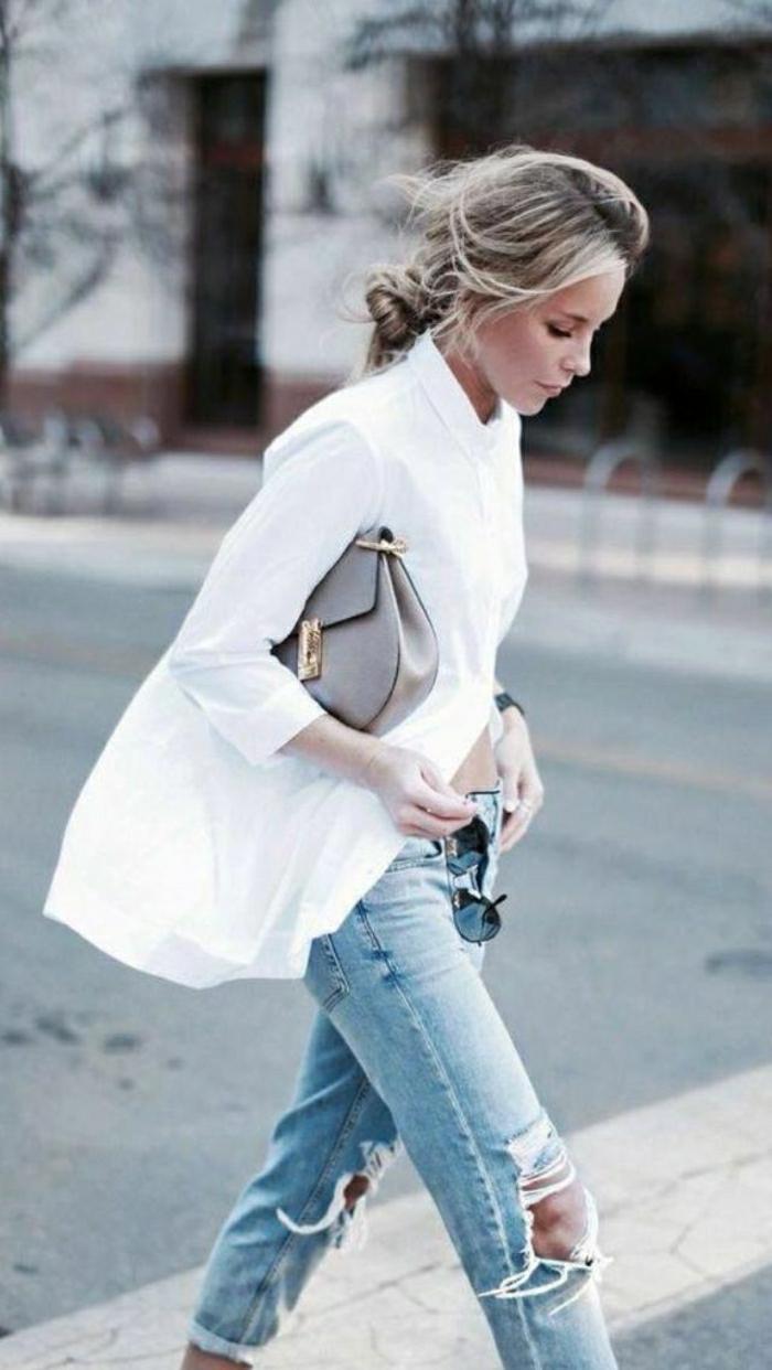weißes-Hemd-Jeans-Sommerkleidung-leger