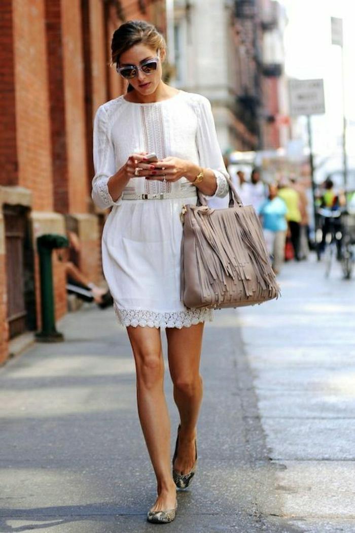 weißes-Kleid-Tasche-Boho-Chic-Stil-Sommer