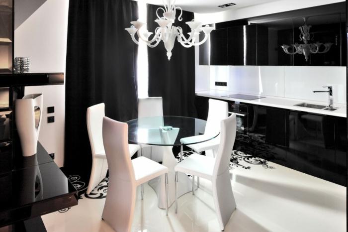 Wohnideen Wohnzimmer Schwarz Wei  - Wohndesign Ideen