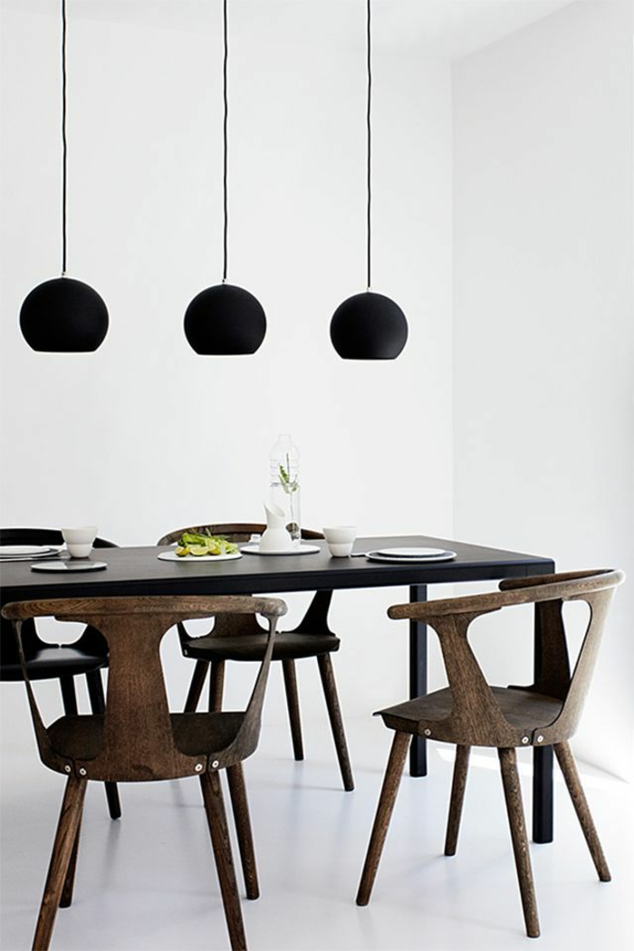 38 kreative wohnideen in schwarz und wei. Black Bedroom Furniture Sets. Home Design Ideas