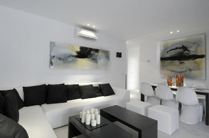 design : raumgestaltung schwarz weiß wohnzimmer ~ inspirierende ... - Bilder Wohnzimmer Schwarz Weiss