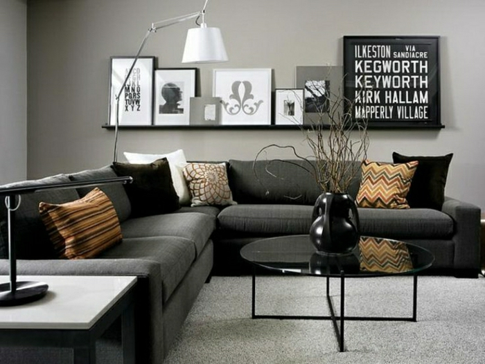 einrichtungsideen frs wohnzimmer in 45 fotos - Wohnzimmer Grau