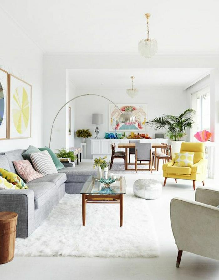wohnideen wohnzimmer graues sofa – chillege, Wohnzimmer dekoo