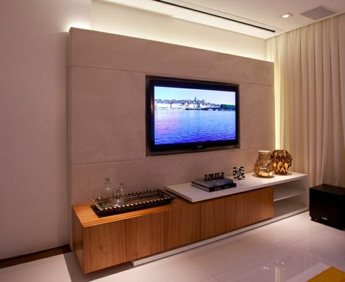 Wohnzimmer Gestalten Einrichten Wandpaneele Tv Wand Fernsehwand