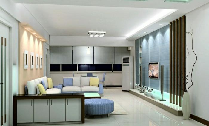 wohnzimmergestaltung 3d:wohnzimmer-gestalten-wohnzimmer-einrichten-wandpaneele-tv-wand