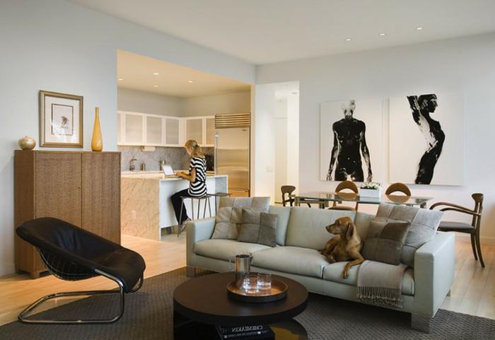 wohnzimmer-mit-küche-auffällige-dekoration