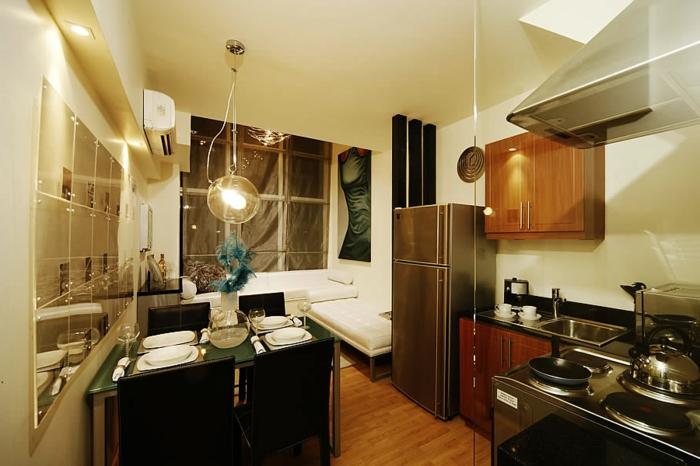 wohnzimmer-mit-küche-elegante-gestaltung
