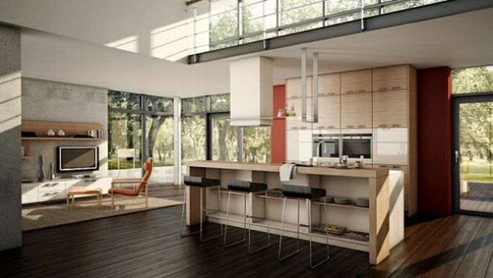 Modernes Wohnzimmer Mit Kuche : wohnzimmer-mit-küche-luxuriöses ...