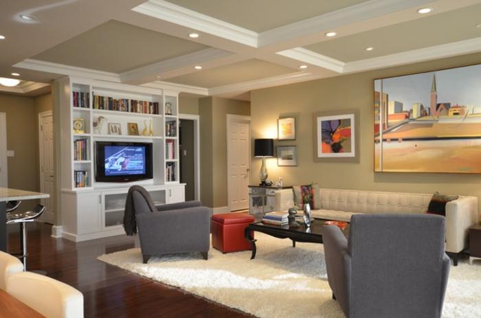 wohnzimmer küche design:Hier ist ein sehr modernes Design vom Wohnzimmer mit Küche – helle
