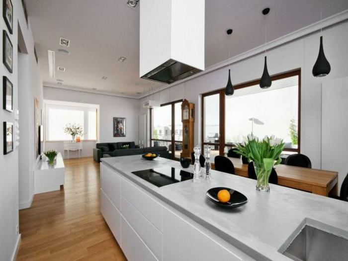 wohnzimmer küche design:wohnzimmer-mit-küche-sehr-große-küche