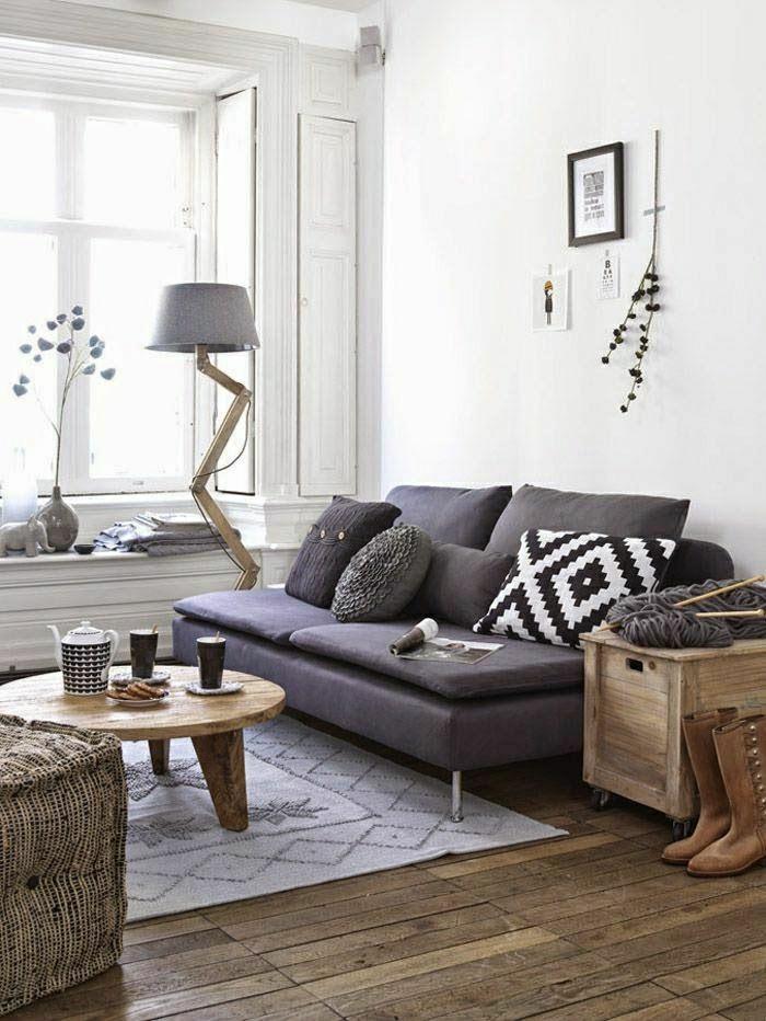 Wohnzimmer gemütlich modern  Einrichtungsideen fürs Wohnzimmer in 45 Fotos - Archzine.net