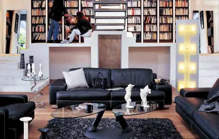 zimmer-inspirationen-interessnate-dunkle-möbelstücke