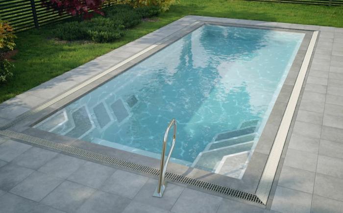 Einige interessante bauarten von schwimmbecken - Viereckiger pool ...