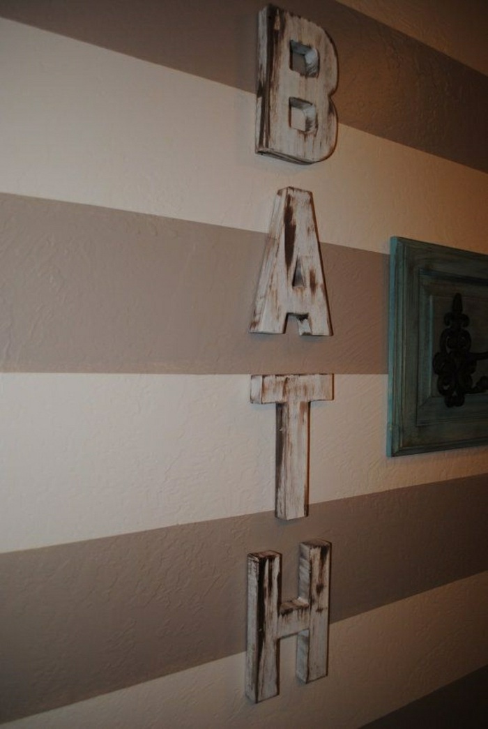 Badezimmer-Aufschrift-Wand-Streifen