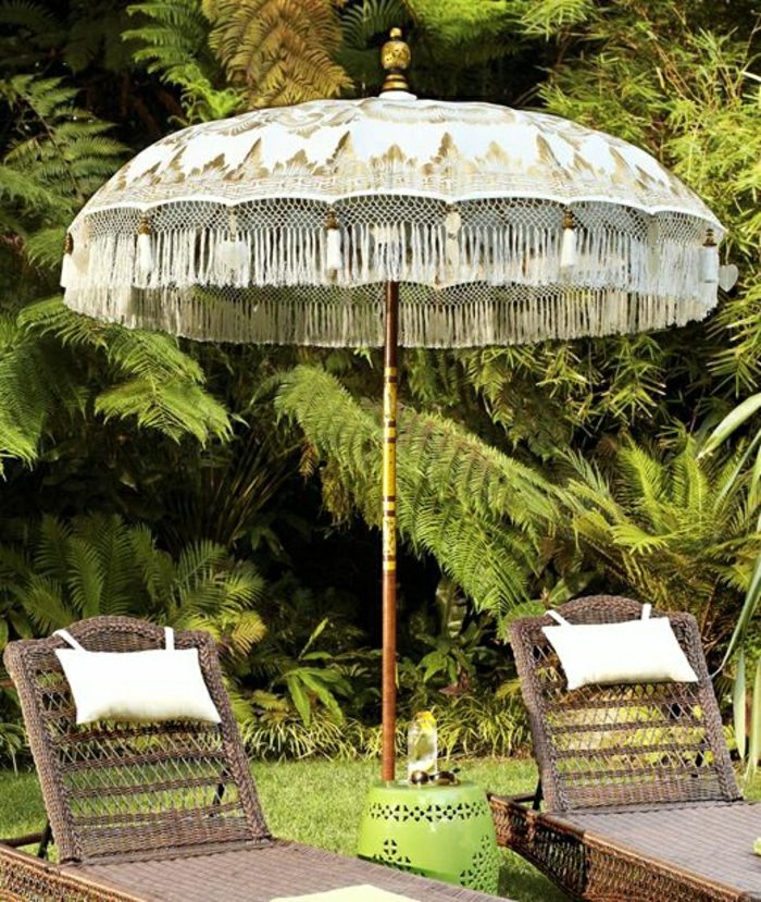 Balinese-Schirm-Gartenmöbel-Rattan-Kissen-Garten-Hinterhof