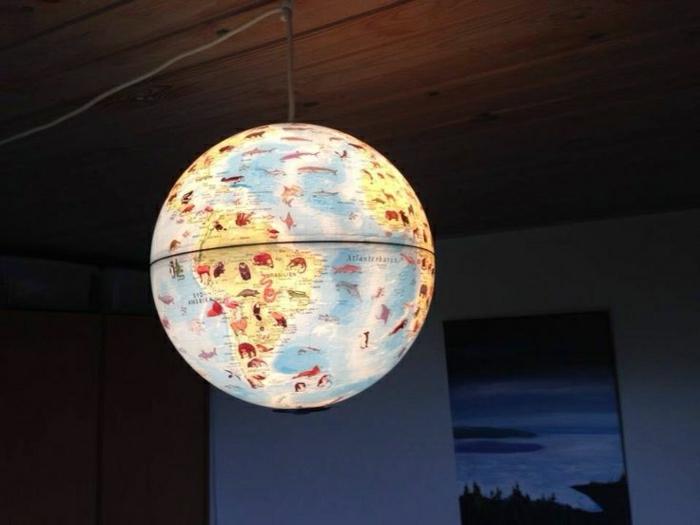 Globus-Weltkarte-Lampe-Ball-leuchtend