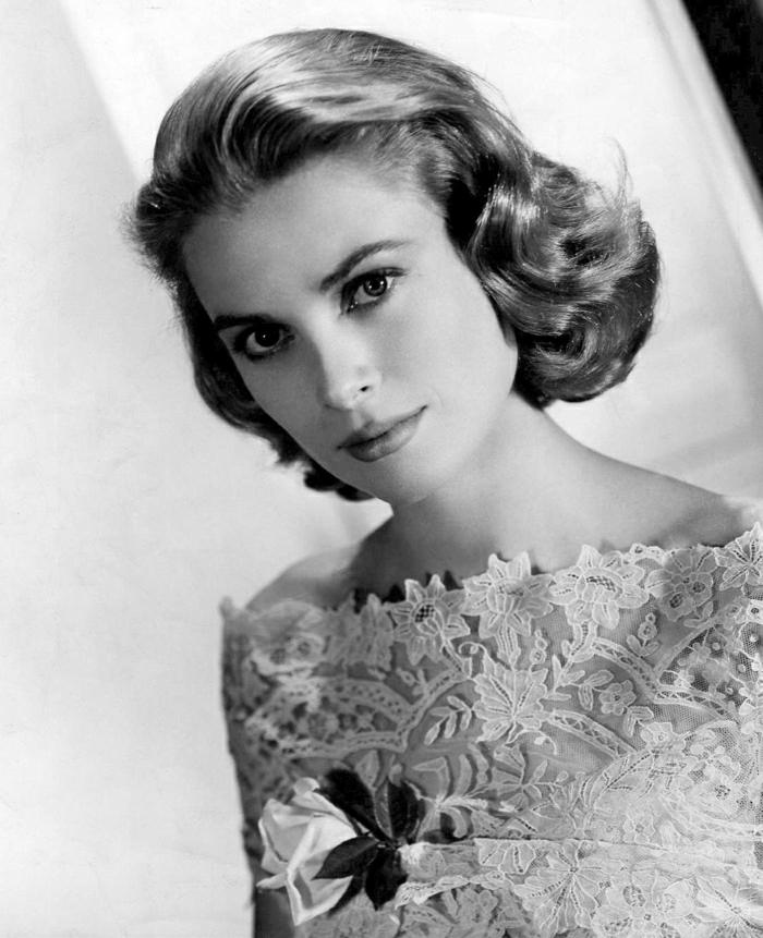 Grace-Kelly-retro-Foto-jung-schön-Hollywood-Legende-goldene-Ära-Kino