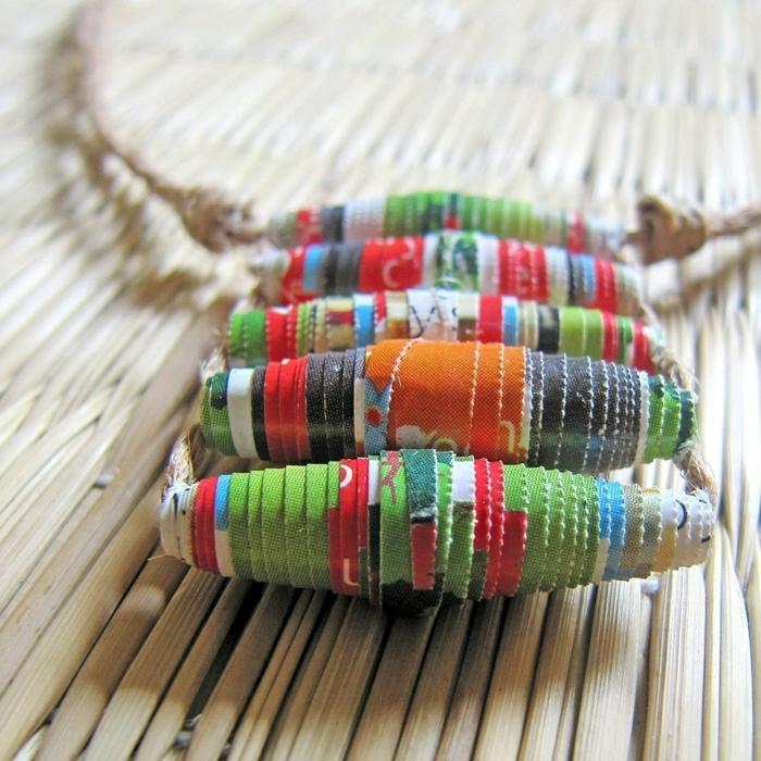 Hippie-Boho-Schmuck-Kette-Textil-farbig
