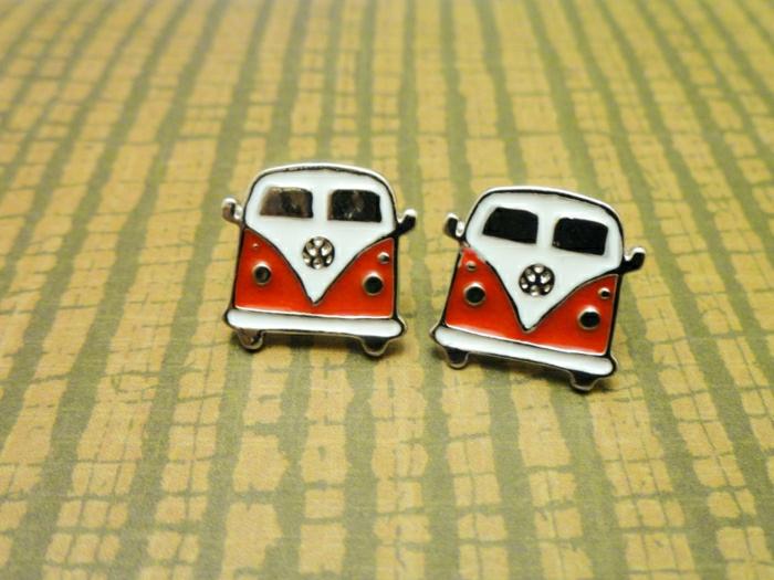 Hippie-Schmuck-Ohrringe-Boho-Bus-Volkswagen-Van-süß