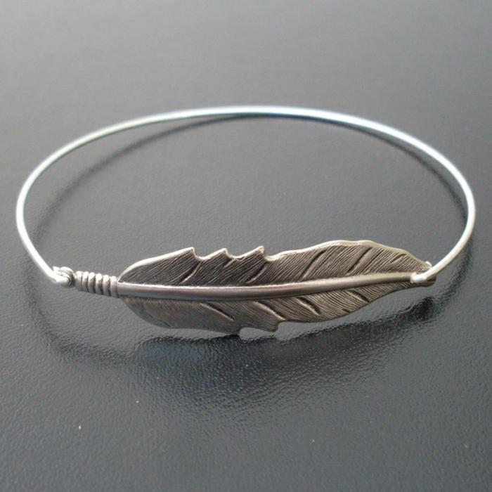 Hippie-Schmuck-Armband-Silber-Blatt-Dekoration