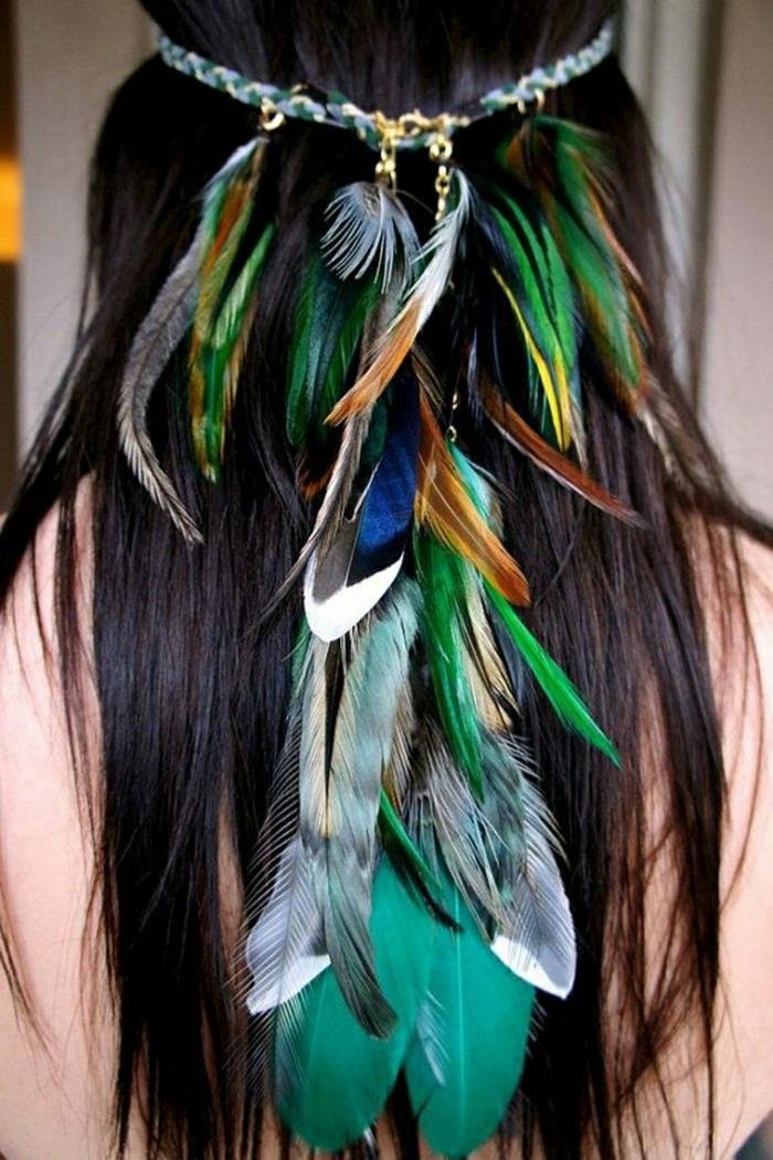 Hippie-Stirnband-Federn-Boho-Chic-Stil-Accessoires