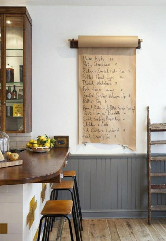 Küche-Wanddekoration-Aufzeichnungen