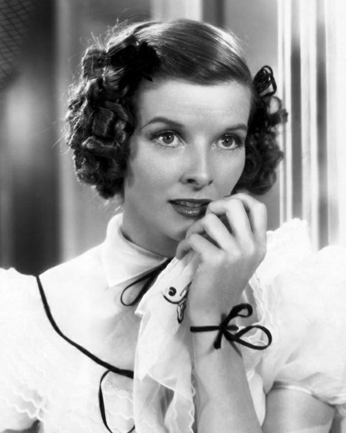 Katharine-Hepburn-Alice-Adams-Film-Rollen-schwarz-weiß-retro-Foto