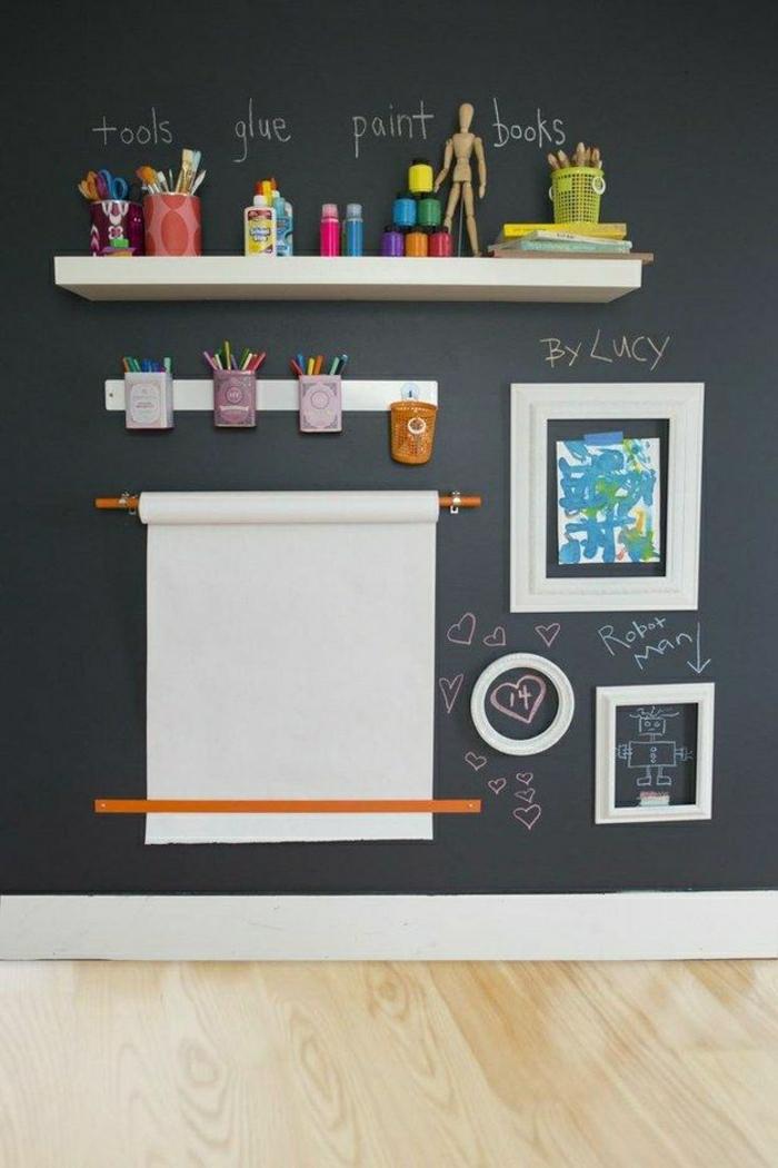Kinderzimmer-Wanddekoration-Leinwand-Färbewerkzeuge-Zeichnungen
